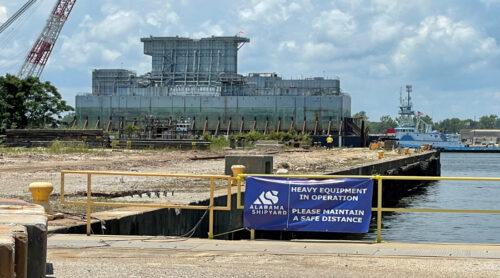 The SSSB Arrives in Mobile to Alabama Shipyard for